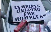 Athiests helping homeless