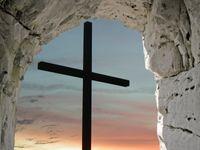 Cross in tomb