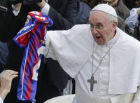 Pope francis soccer jersey